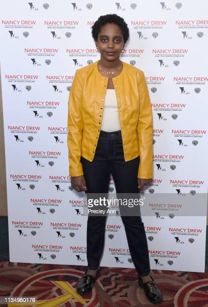Naomi Wadler attends the red carpet premiere of 'Nancy Drew and the Hidden Staircase' at AMC Century City 15 on March 10 2019 in Century City...