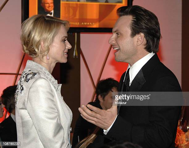 Naomi Watts and Christian Slater during In Style and Warner Bros. 2007 Golden Globe After Party - Inside at Beverly Hilton Hotel in Beverly Hills,...