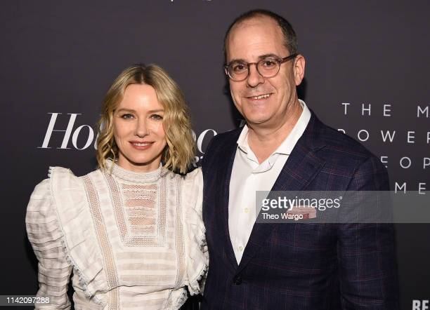 Naomi Watts and David Nevins attend the The Hollywood Reporter's 9th Annual Most Powerful People In Media at The Pool on April 11, 2019 in New York...