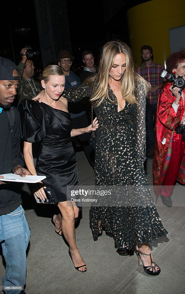 Naomi Watts and guest arrive the 'Charles James: Beyond Fashion' Costume Institute Gala After Party at the The Standard Hotel on May 5, 2014 in New York City.