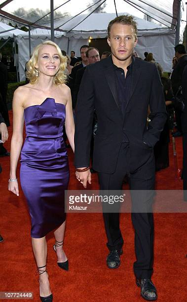 Naomi Watts and Heath Ledger during 10th Annual Screen Actors Guild Awards Red Carpet at Shrine Auditorium in Los Angeles California United States