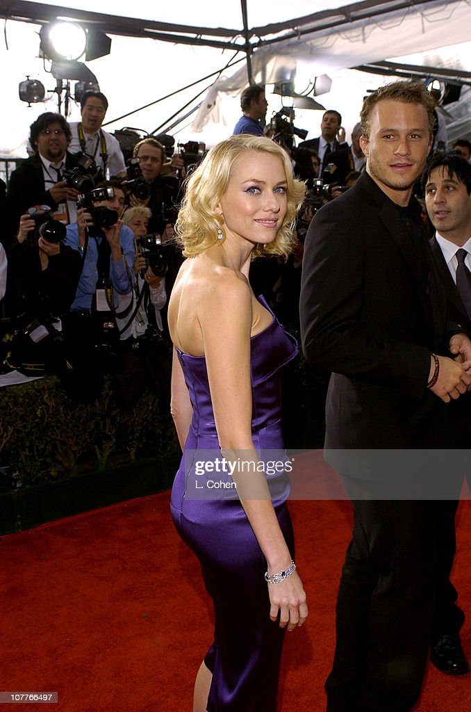 Naomi Watts and Heath Ledger during 10th Annual Screen Actors Guild Awards - Red Carpet at Shrine Auditorium in Los Angeles, California, United States.