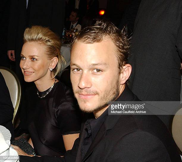 Naomi Watts and Heath Ledger during 9th Annual Critics' Choice Awards Audience and Show at The Beverly Hills Hotel in Beverly Hills California United...
