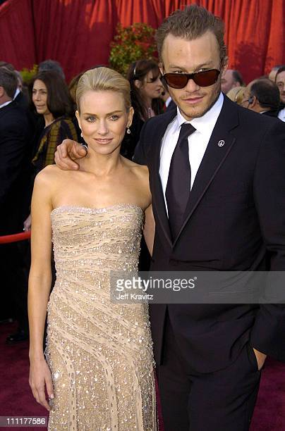 Naomi Watts and Heath Ledger during The 76th Annual Academy Awards - Arrivals by Jeff Kravitz at Kodak Theatre in Hollywood, California, United...