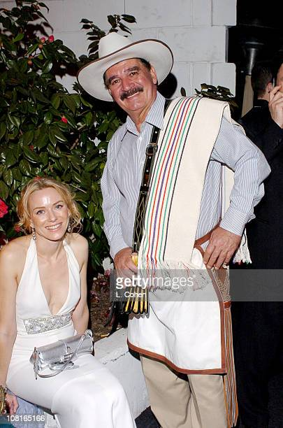 Naomi Watts and Juan Valdez during 2005 Glamour/Miramax Golden Globes Party Inside at Beverly Hilton Hotel in Los Angeles California United States