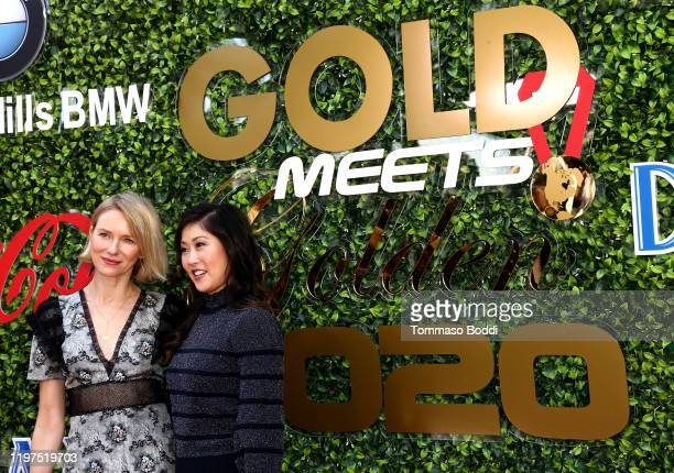 Naomi Watts and Kristi Yamaguchi attend the 7th Annual Gold Meets Golden at Virginia Robinson Gardens and Estate on January 04 2020 in Los Angeles...