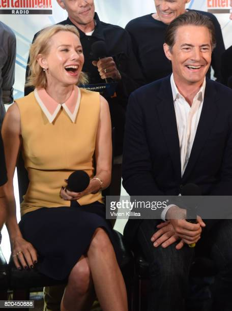 Naomi Watts and Kyle MacLachlan attend SiriusXM's Entertainment Weekly Radio Channel Broadcasts From Comic Con 2017 at Hard Rock Hotel San Diego on...