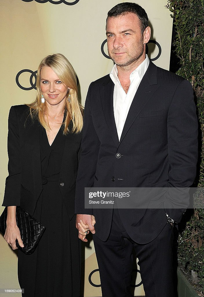 Naomi Watts and Liev Schreiber arrives at the Audi Golden Globe 2013 Kick Off Cocktail Party at Cecconi's Restaurant on January 6, 2013 in Los Angeles, California.