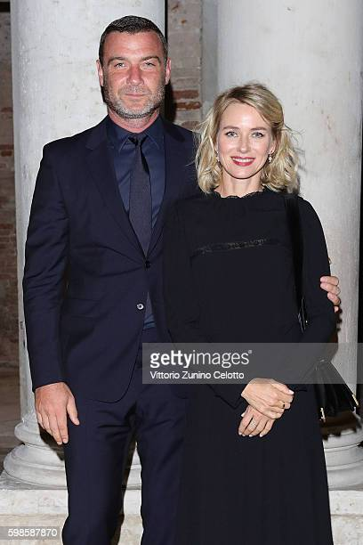 Naomi Watts and Liev Schreiber attend Miu Miu Women's Tales Dinner during the 73rd Venice Film Festival at Ca' Corner della Regina on September 1...