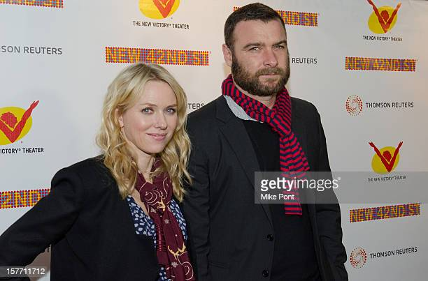 Naomi Watts and Liev Schreiber attend the 2012 New 42nd Street gala at The New Victory Theater on December 5, 2012 in New York City.