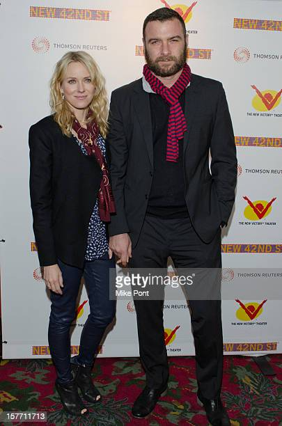 Naomi Watts and Liev Schreiber attend the 2012 New 42nd Street gala at The New Victory Theater on December 5 2012 in New York City