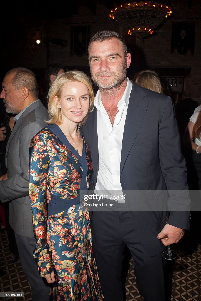 Naomi Watts and Liev Schreiber attend the 3rd Annual Turtle Ball at The Bowery Hotel on September 28, 2015 in New York City.