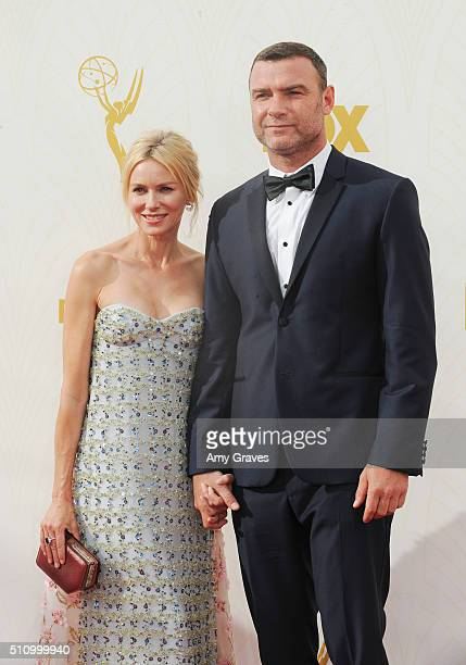 Naomi Watts and Liev Schreiber attend the 67th Annual Primetime Emmy Awards on September 20 2015 in Los Angeles California