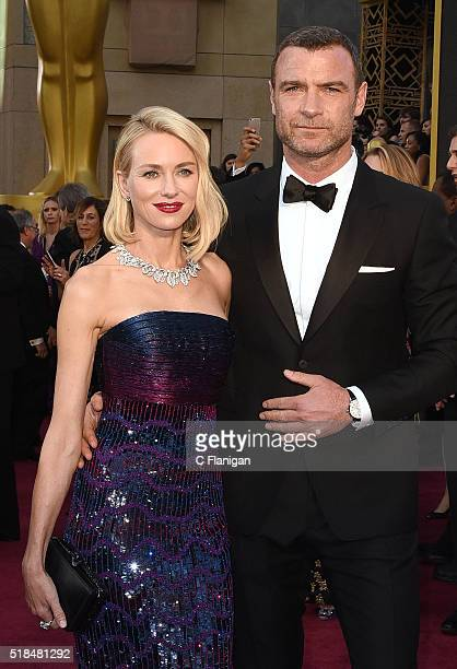 Naomi Watts and Liev Schreiber attend the 88th Annual Academy Awards at the Hollywood Highland Center on February 28 2016 in Hollywood California