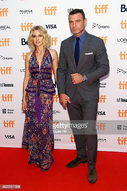 Naomi Watts and Liev Schreiber attend the premiere of The Bleeder during the 2016 Toronto International Film Festival at Princess of Wales Theatre on...