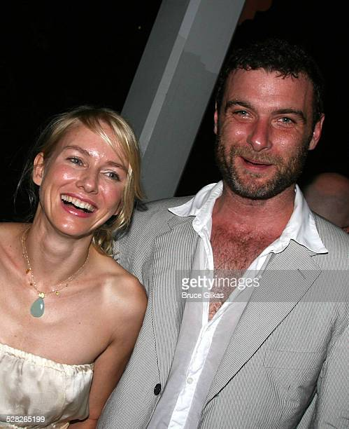 Naomi Watts and Liev Schreiber during Opening Night Afterparty for Macbeth at The Belvedere Castle in Central Park at The Belvedere Castle in Central...