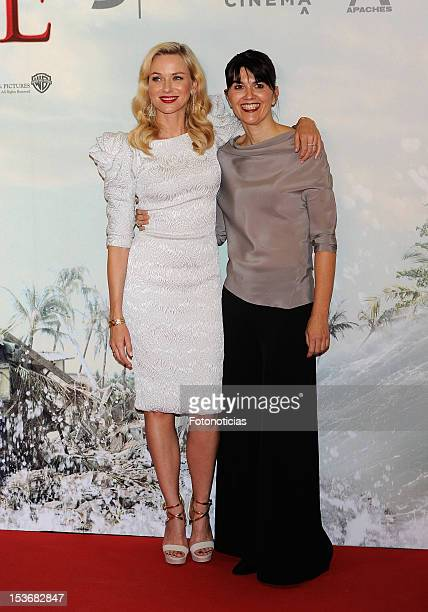 Naomi Watts and Maria Belon attend the premiere of 'The Impossible' at Kinepolis cinema on October 8, 2012 in Madrid, Spain.