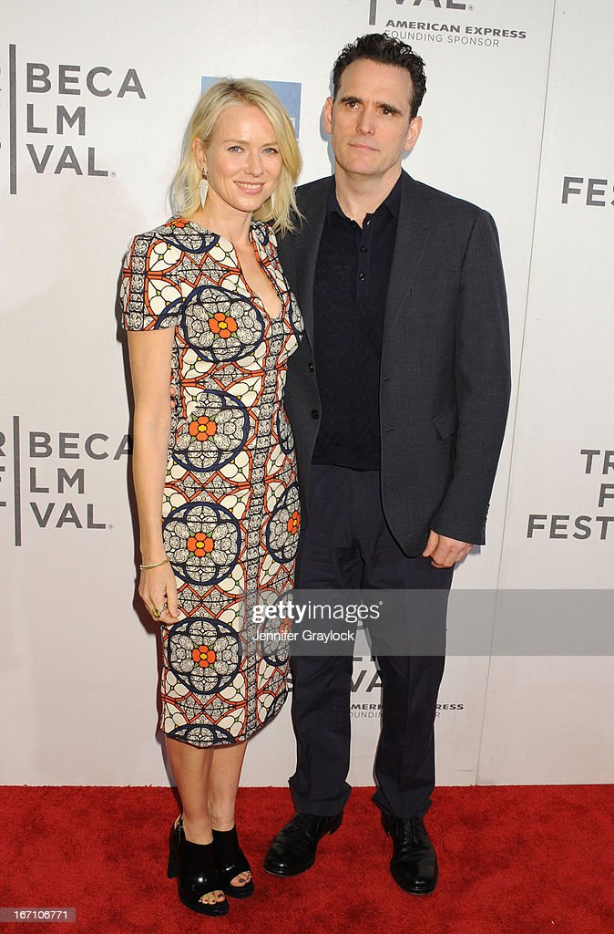 Naomi Watts and Matt Dillon attend the screening of 'Sunlight Jr.' during the 2013 Tribeca Film Festival at BMCC Tribeca PAC on April 20, 2013 in New York City.