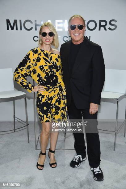 Naomi Watts and Michael Kors pose backstage at Michael Kors Collection Spring 2018 Runway Show at Spring Studios on September 13 2017 in New York City