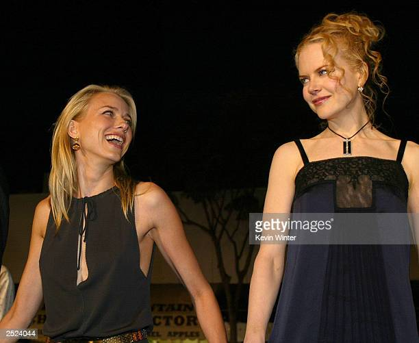 """Naomi Watts and Nicole Kidman at the premiere of """"The Ring"""" at the Bruin Theatre and after-party at the Garden in Westwood, Ca. Wednesday, Oct. 9,..."""