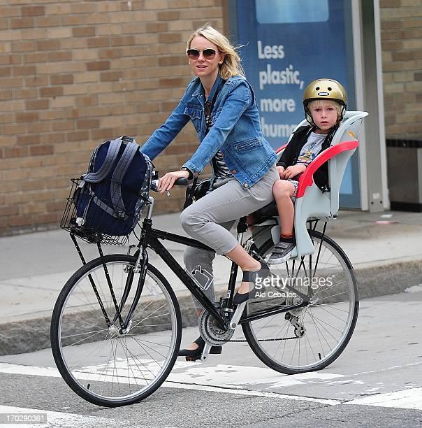 Naomi Watts and Samuel Kai Schreiber are seen in Soho on June 10 2013 in New York City