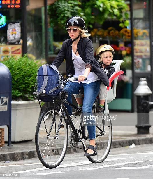 Naomi Watts and Samuel Kai Schreiber are seen in Soho on June 11, 2013 in New York City.