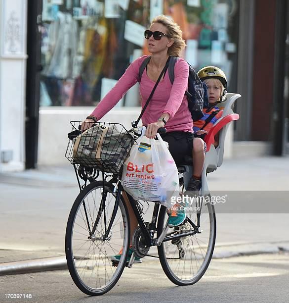 Naomi Watts and Samuel Kai Schreiber are seen in Soho on June 12 2013 in New York City