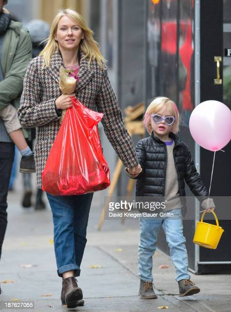 Naomi Watts and Samuel Schreiber are seen on November 10 2013 in New York City