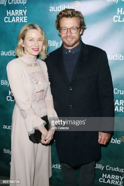 Naomi Watts and Simon Baker attend the opening night of 'Harry Clarke' at the Minetta Lane Theatre on March 18 2018 in New York City