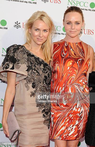 Naomi Watts and Stella McCartney attend the NSPCC Pop Art Ball at Banqueting House on May 24 2012 in London England