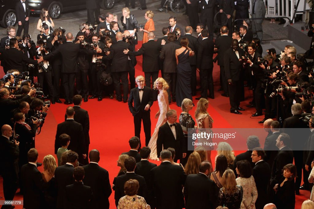 Naomi Watts and Woody Allen leave the 'You Will Meet A Tall Dark Stranger' Premiere at the Palais des Festivals during the 63rd Annual Cannes Film Festival on May 15, 2010 in Cannes, France.