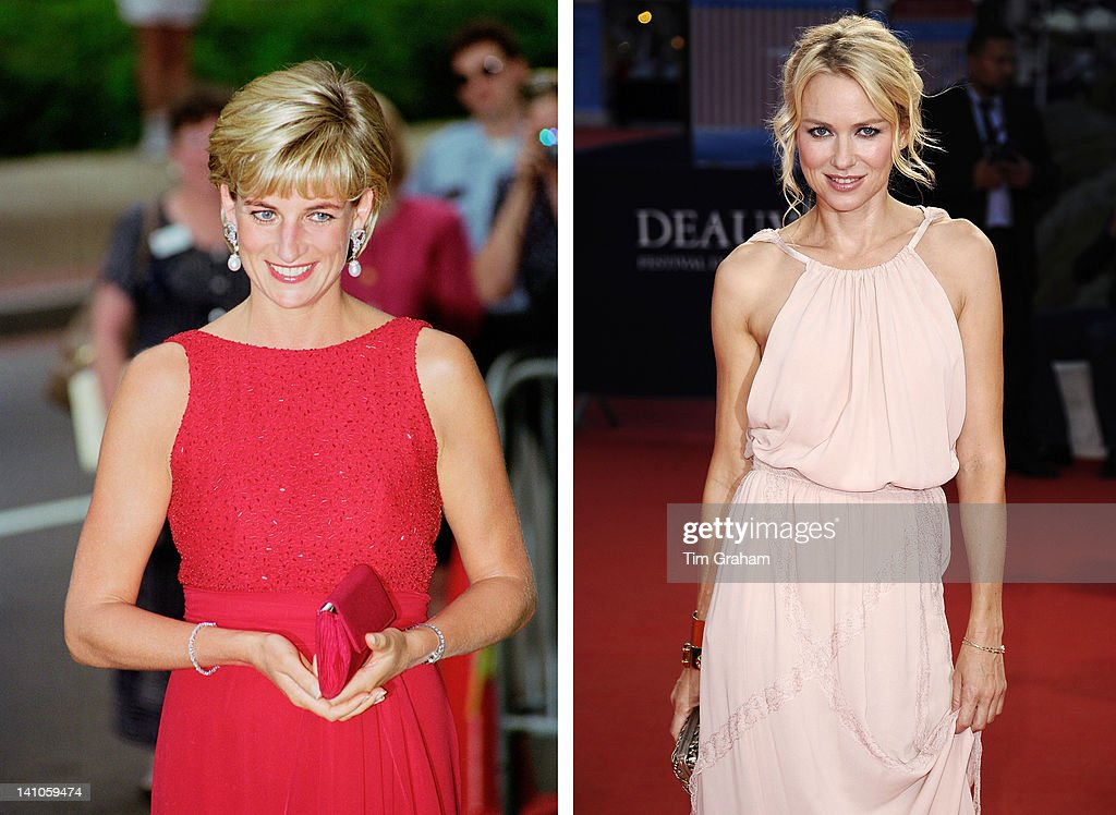 In this composite image a comparison has been made between Diana, Princess of Wales (L) and actress Naomi Watts. Naomi Watts will reportedly play Diana, Princess of Wales in a film biopic directed by Oliver Hirschbiegel. According to earlier reports actress Jessica Chastain was up for the role originally in the screenplay by playwright Stephen Jeffreys. DEAUVILLE, FRANCE - SEPTEMBER 09: Naomi Watts arrives at the 'Crazy, Stupid, Love' Premiere during the 37th Deauville American Film Festival on September 9, 2011 in Deauville, France.