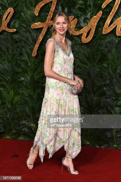 Naomi Watts arrives at The Fashion Awards 2018 In Partnership With Swarovski at Royal Albert Hall on December 10, 2018 in London, England.