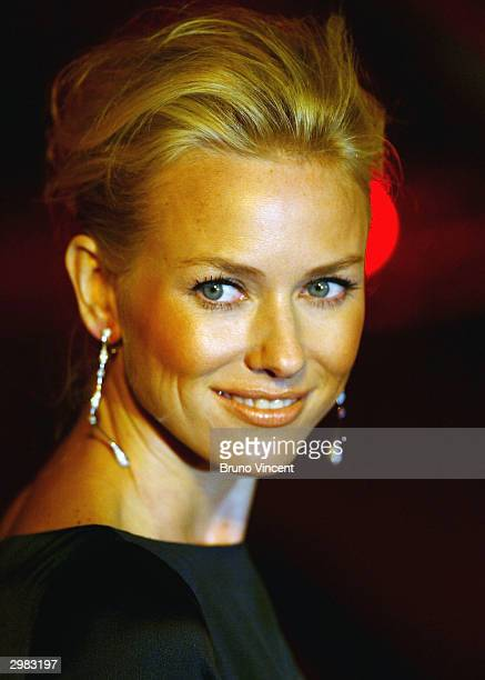 Naomi Watts arrives at the 'The London Party' ahead of The Orange British Academy Film Awards at Middle Temple Hall on February 14 2004 in London...