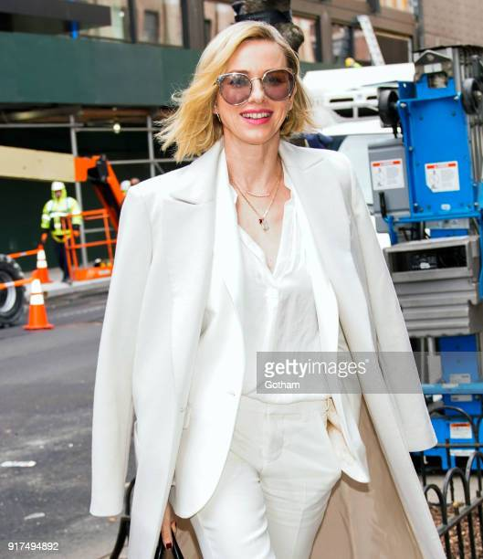 Naomi Watts arrives at Zadig Voltaire show on February 12 2018 in New York City