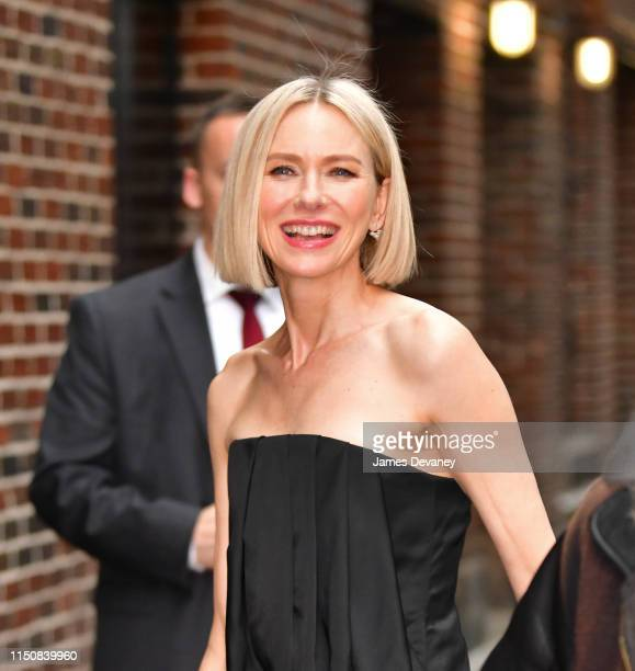 Naomi Watts arrives to The Late Show with Stephen Colbert at the Ed Sullivan Theater on June 19 2019 in New York City