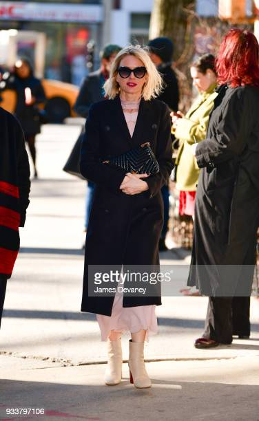 Naomi Watts arrives to the opening night of Harry Clarke at Minetta Lane Theatre on March 18 2018 in New York City