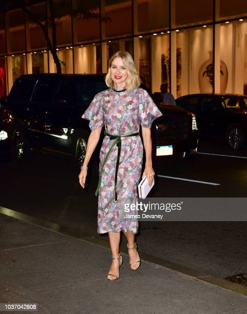 Naomi Watts arrives to the Rainbow Room on September 20 2018 in New York City