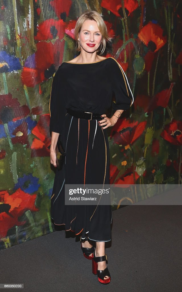 Naomi Watts attends 2017 'Take Home A Nude' art party and auction at Sotheby's on October 11, 2017 in New York City.