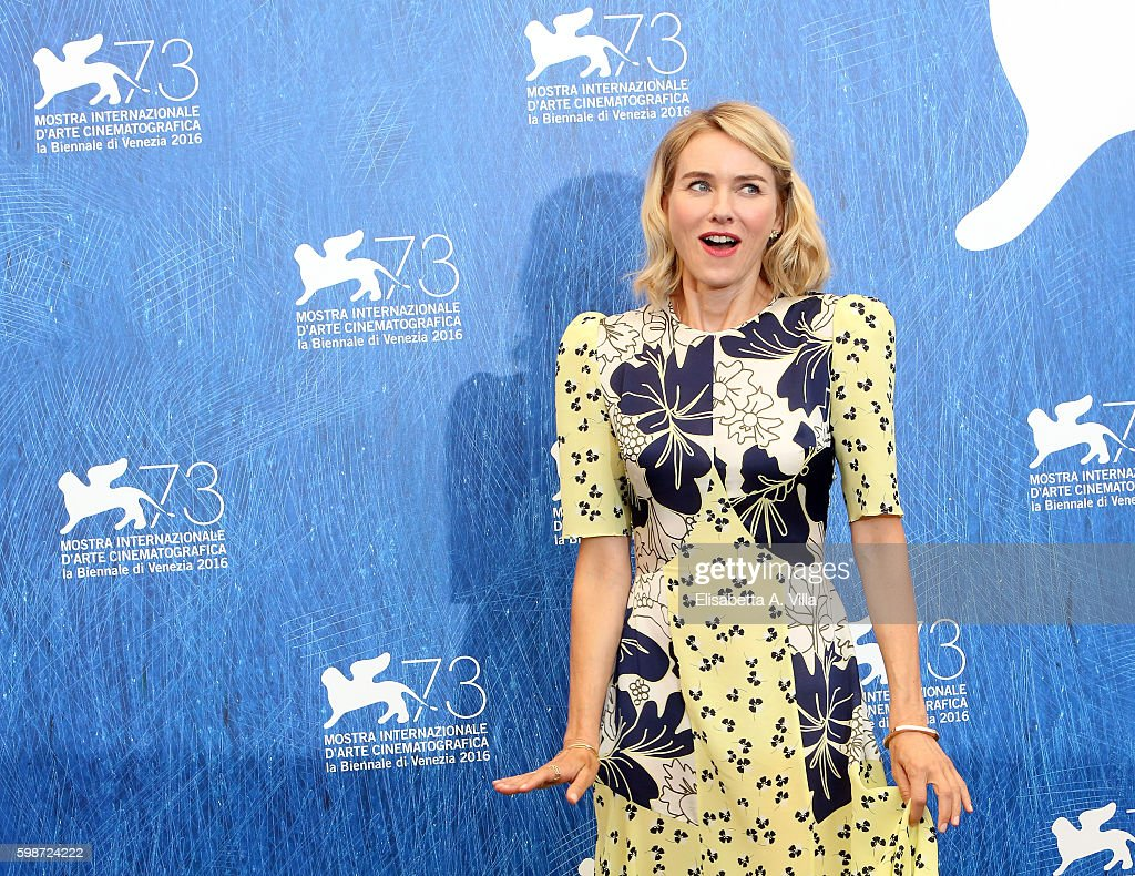 Naomi Watts attends a photocall for 'The Bleeder' during the 73rd Venice Film Festival at Palazzo del Casino on September 2, 2016 in Venice, Italy.