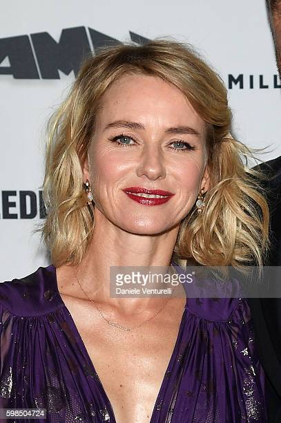 Naomi Watts attends AMBI Exclusive Dinner in honor of 'The Bleeder' starring Naomi Watts and Liev Schreiber during the 73rd Venice Film Festival on...