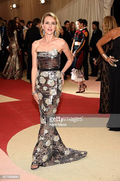 Naomi Watts attends 'Manus x Machina Fashion In An Age Of Technology' Costume Institute Gala at Metropolitan Museum of Art on May 2 2016 in New York...