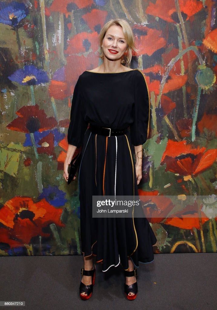 Naomi Watts attends the 2017 Take Home A Nude Art Party and auction at Sotheby's on October 11, 2017 in New York City.