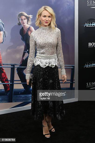 Naomi Watts attends the Allegiant premiere at AMC Loews Lincoln Square 13 theater on March 14 2016 in New York City