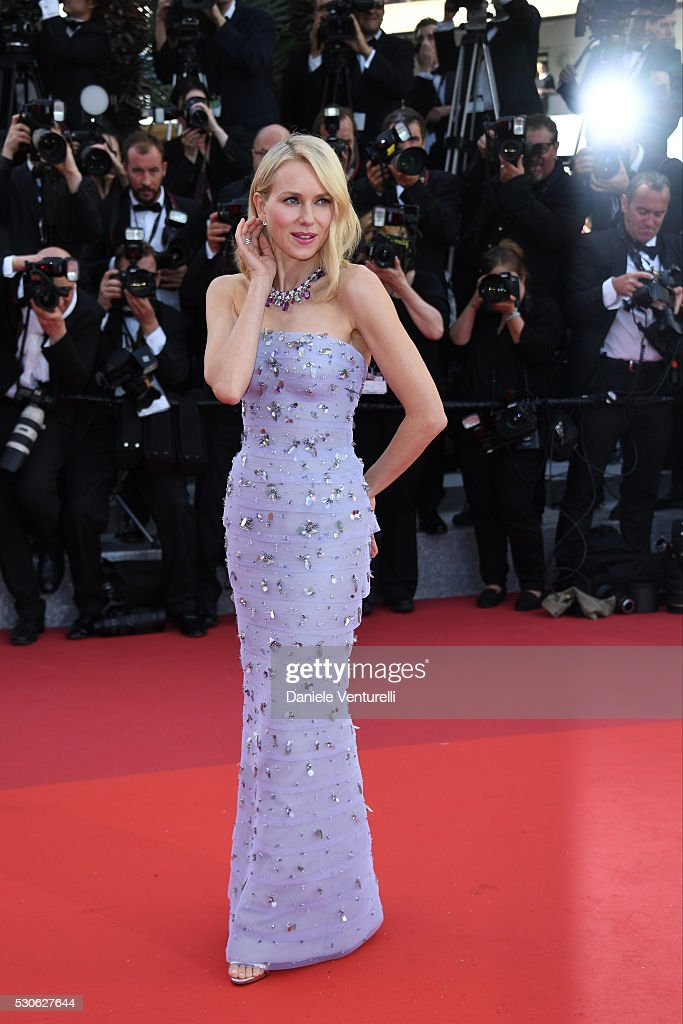 Naomi Watts attends the 'Cafe Society' premiere and the Opening Night Gala during the 69th annual Cannes Film Festival at the Palais des Festivals on May 11, 2016 in Cannes, .