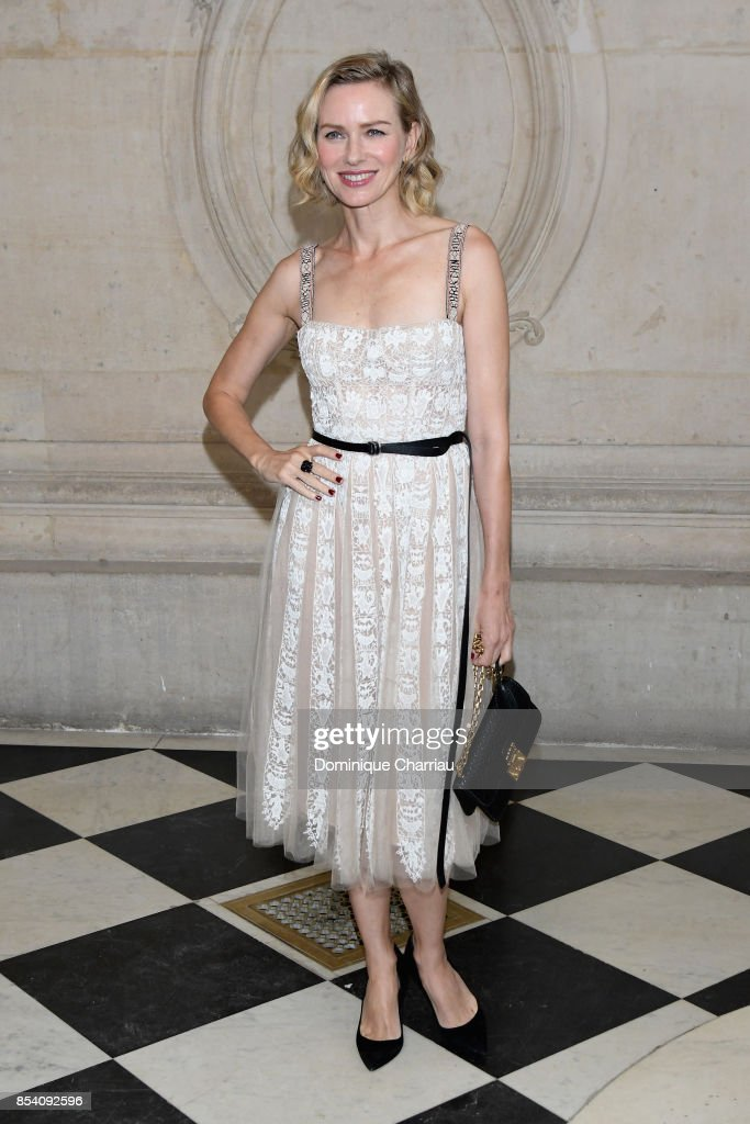 Naomi Watts attends the Christian Dior show as part of the Paris Fashion Week Womenswear Spring/Summer 2018 on September 26, 2017 in Paris, France.