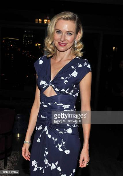 Naomi Watts attends The Cinema Society with Linda Wells Allure Magazine premiere of Entertainment One's 'Diana' after party at The Skylark on October...