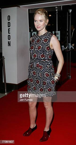 Naomi Watts attends the 'Eastern Promises' Premiere at the BFI 51st London Film Festival Opening Gala , Odeon Leicester Square on October 17, 2007 in...