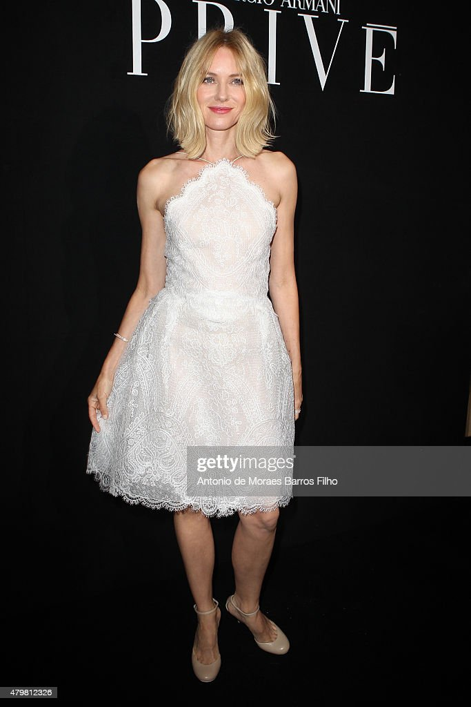 Naomi Watts attends the Giorgio Armani Prive show as part of Paris Fashion Week Haute Couture Fall/Winter 2015/2016 on July 7, 2015 in Paris, France.