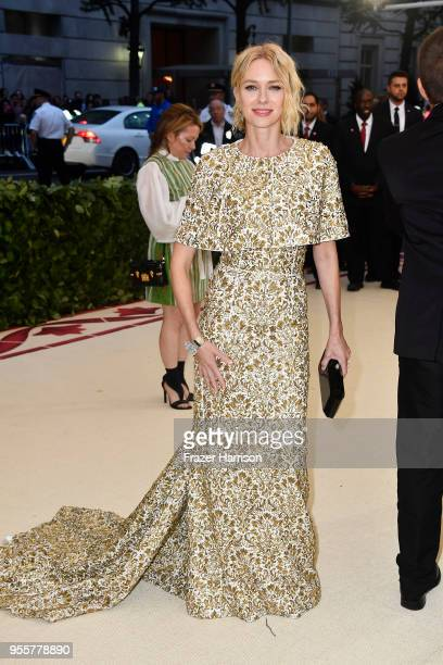 Naomi Watts attends the Heavenly Bodies Fashion The Catholic Imagination Costume Institute Gala at The Metropolitan Museum of Art on May 7 2018 in...